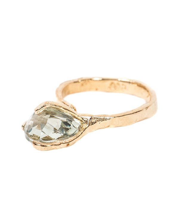 Unearthen Mini Spectra Ring with Green Amethyst