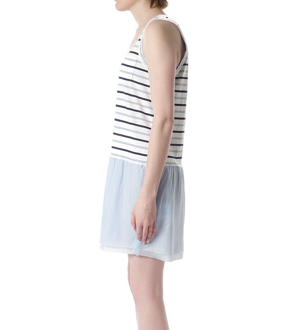Sacai Luck Striped Tank Dress