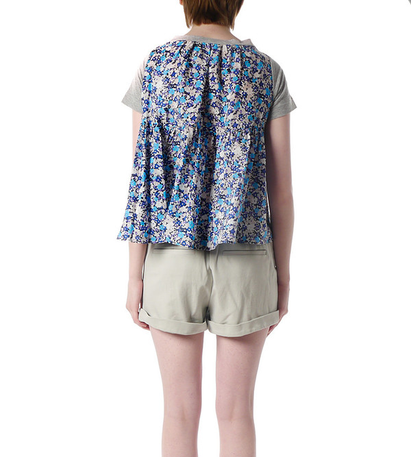 Sacai Luck Floral Back T-Shirt