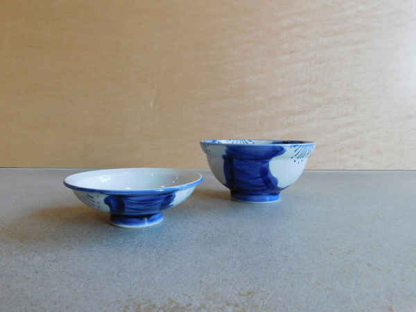 Kotobuki Set of 2 Small Indigo Bowls w/ Lids