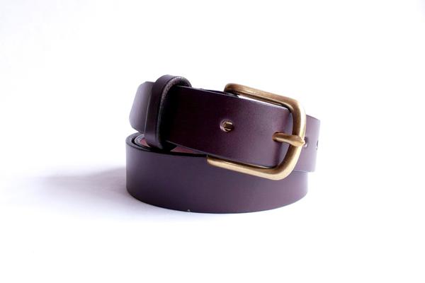 Sara Barner 1.25 Inch Dark Brown Belt
