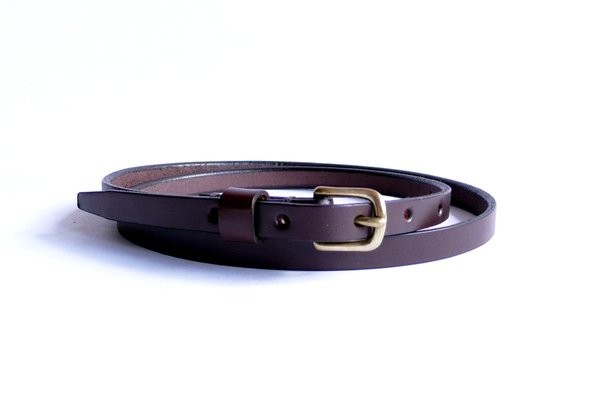 Sara Barner 0.5 Inch Dark Brown Belt