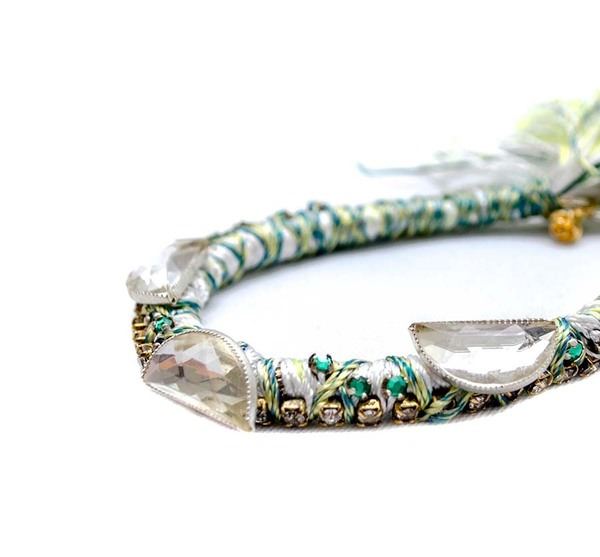 Alyssa Norton Braided Bracelet in Neon Green