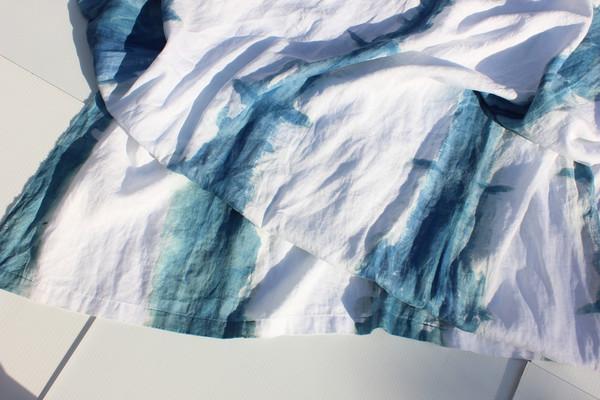 Miranda Bennett Indigo Stripe Home Textile