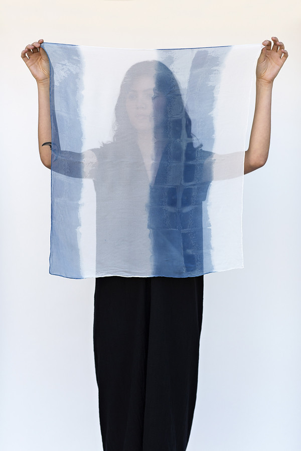 Miranda Bennett Organic Stripe Silk Square