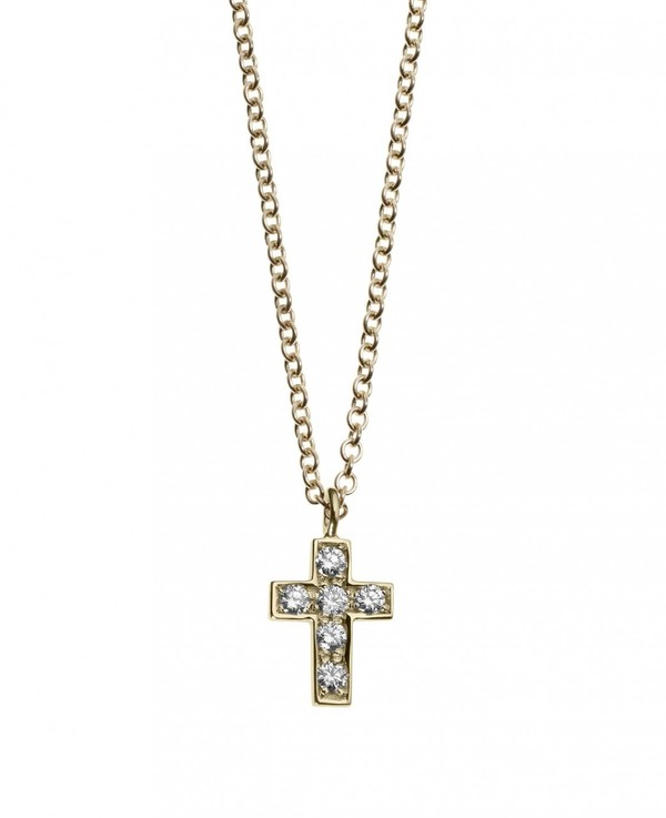 Minor Obsessions Pave Diamond Cross Necklace