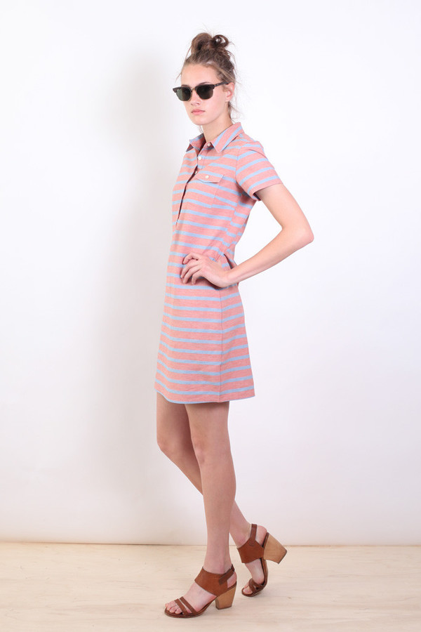 Bridge & Burn Rae Stripe  Collared Dress