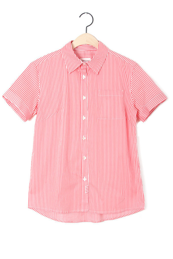 Bridge & Burn Francis Coral Stripe Button-Up