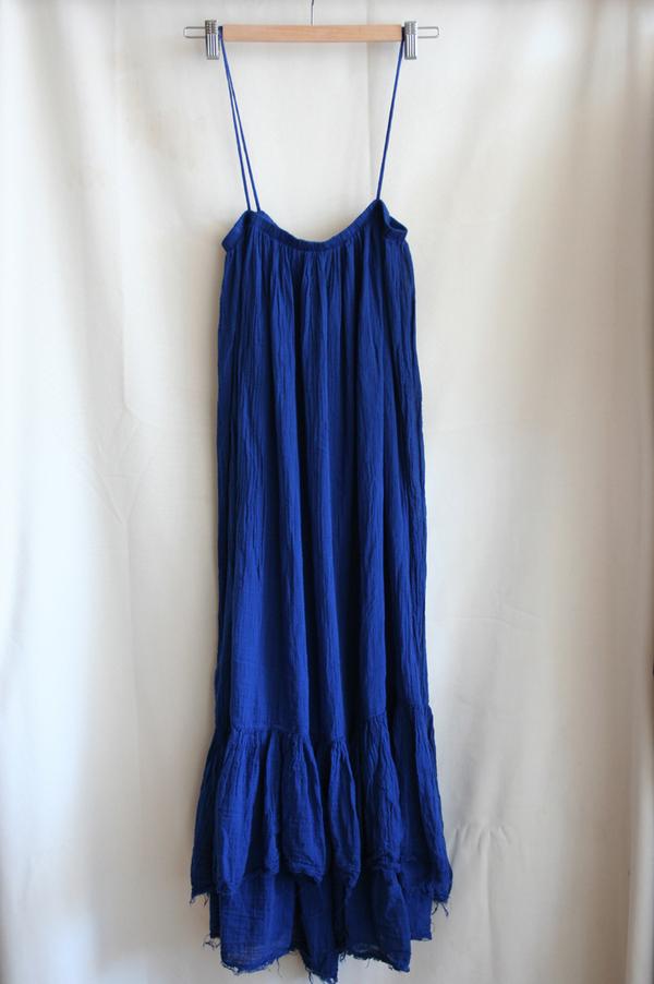 Black Crane Long Dress