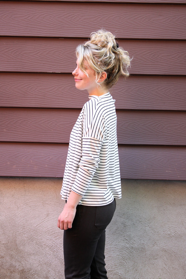 Hutchison Black and White Striped Top