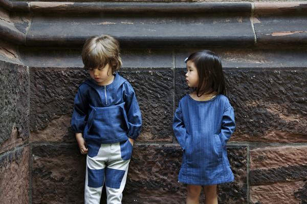 Kid's Noch Mini Denim Dress