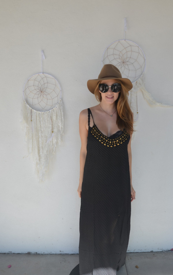 AMUSE SOCIETY Studded Maxi Dress | Black Sands