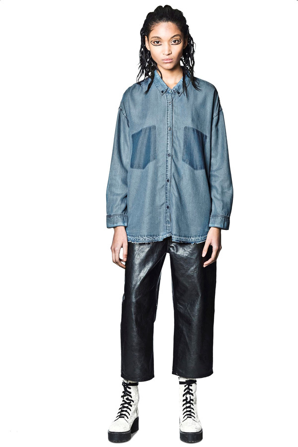 Cheap Monday Luv Blue Shirt