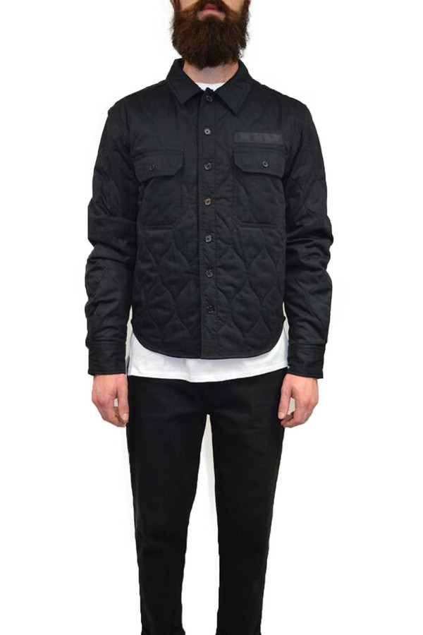 Men's Dickies Construct Quilted Overshirt I Black