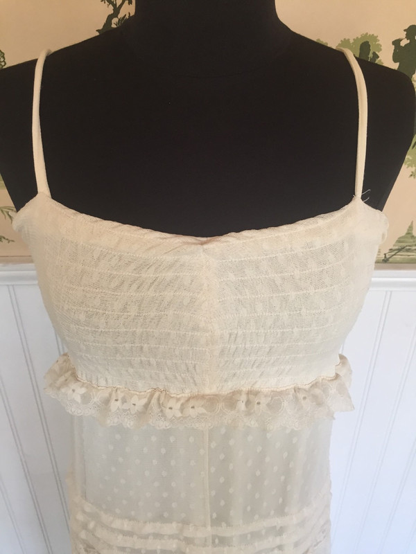 80's Japanese lace and net vintage dress size small