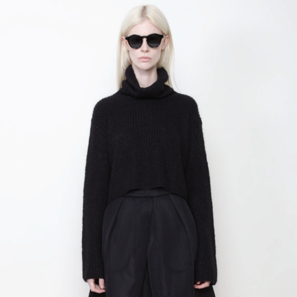 7115 by Szeki Mohair TurtleNeck Cropped Sweater
