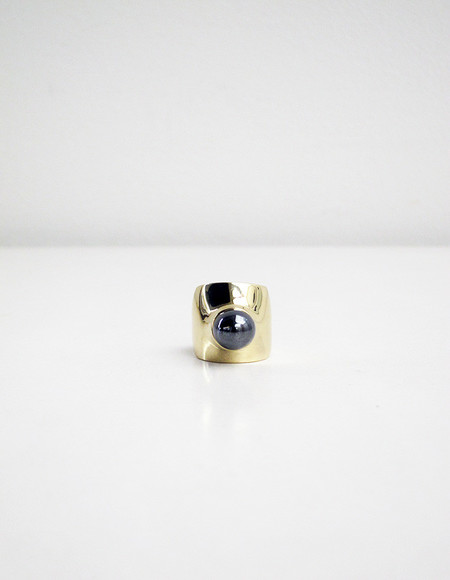Quarry Leyron Ring, Brass/Hematite