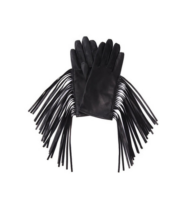 G.V.G.V. Leather Fringe Gloves