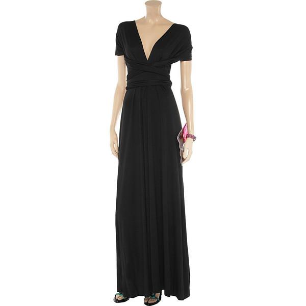 Black floor length infinity dress