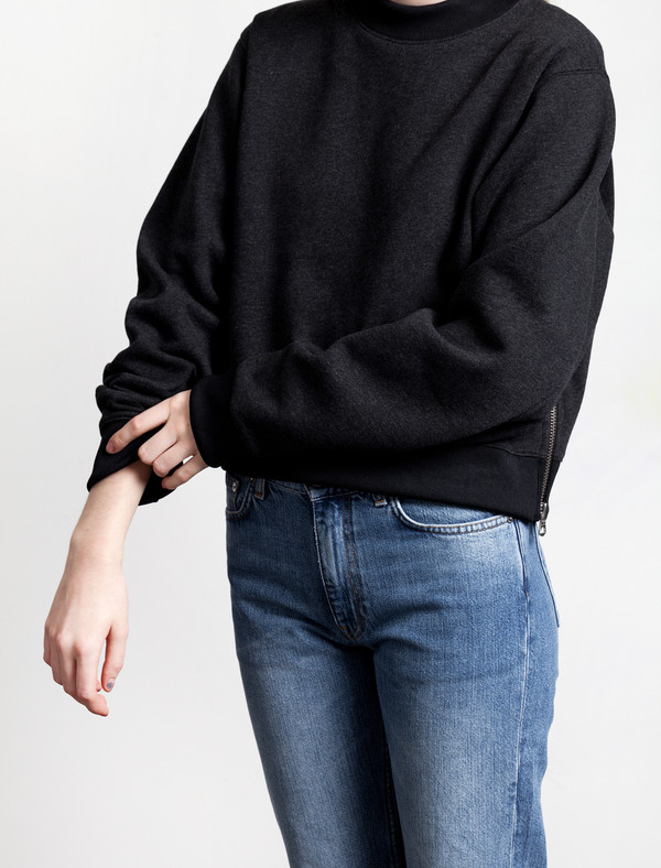 Acne Studios Bird Fleece Sweatshirt | Dark Grey