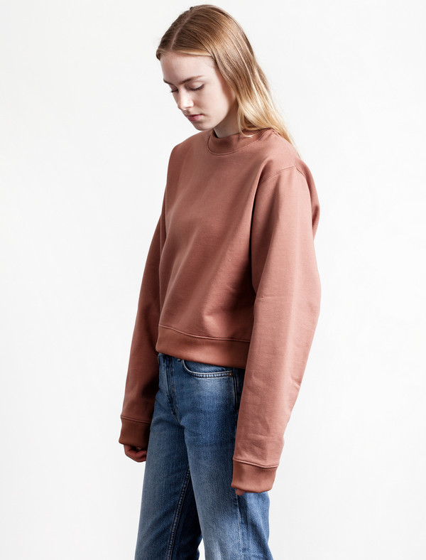 Acne Studios Bird Fleece Sweatshirt | Dusty Pink