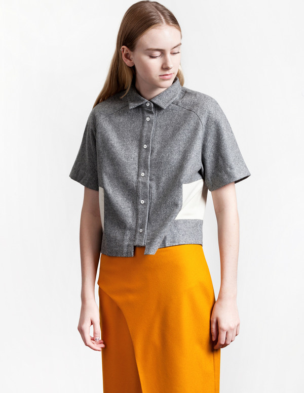 Michigan Short Shirt Grey/White