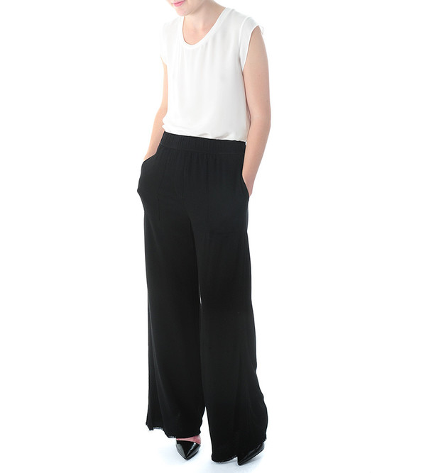 Raquel Allegra Black High Waist Pant
