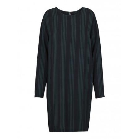 JUST FEMALE STRIPY DRESS |  JUNGLE GREEN