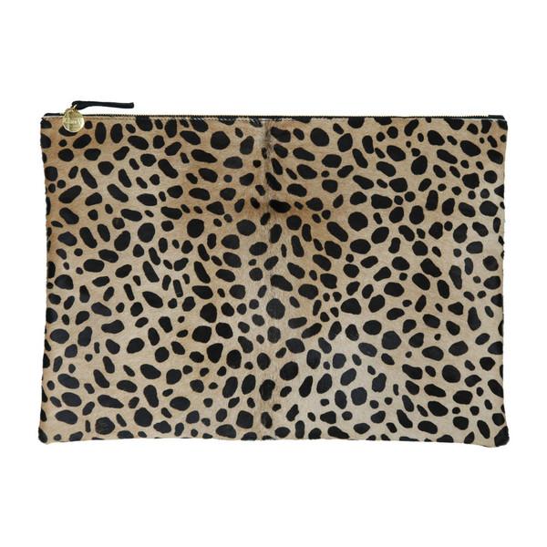 Clare Vivier Oversize Clutch - Leopard Print