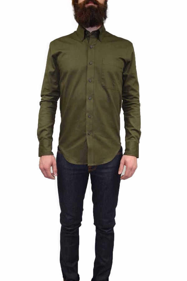 Men's United Stock Dry Goods OXFORD SHIRT I OLIVE