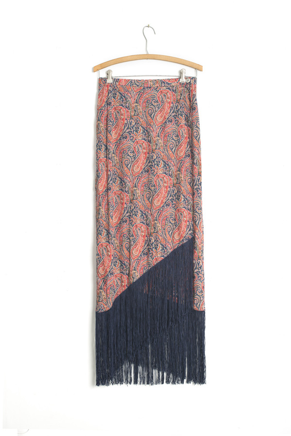 Carleen Fringe Wrap Skirt