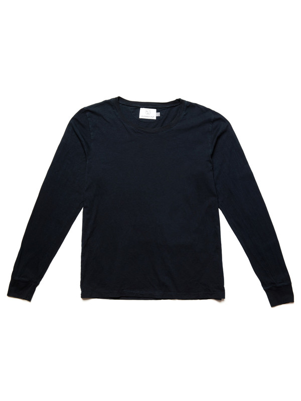 Olderbrother L/S Tee | Black Indigo