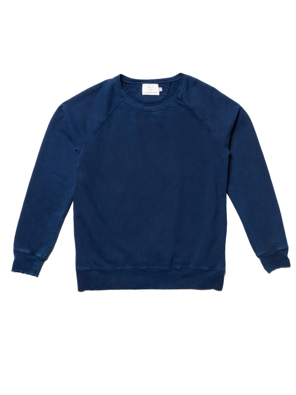 Olderbrother Raglan Crew | Indigo