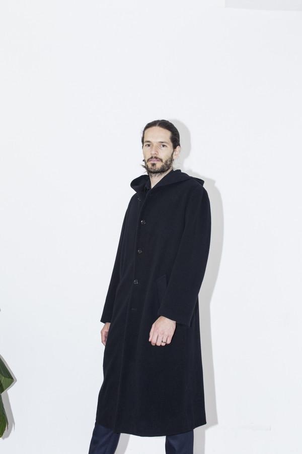 Men's Assembly New York Black Hooded Coat