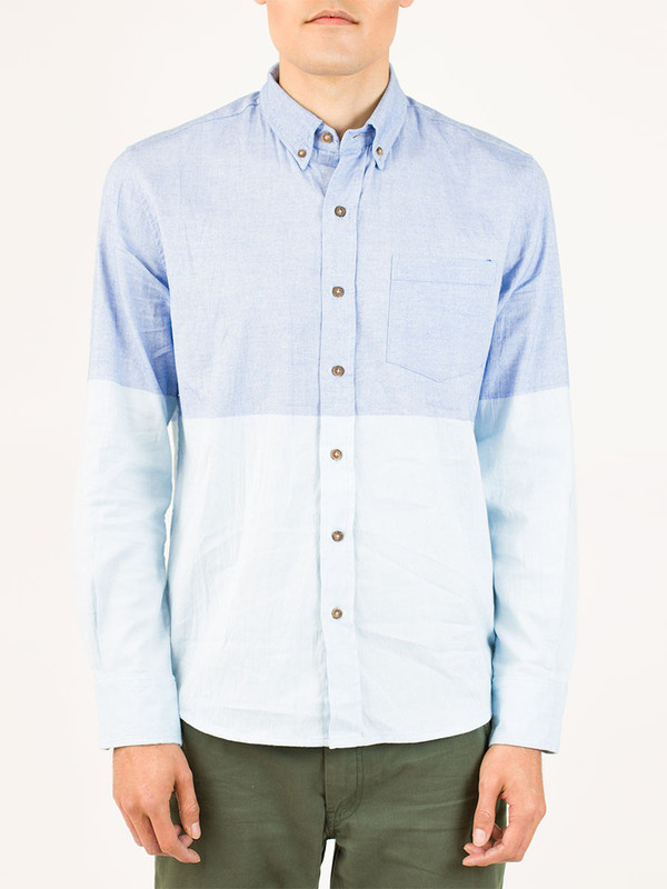 Men's Vanishing Elephant 2-Tone Chambray Shirt