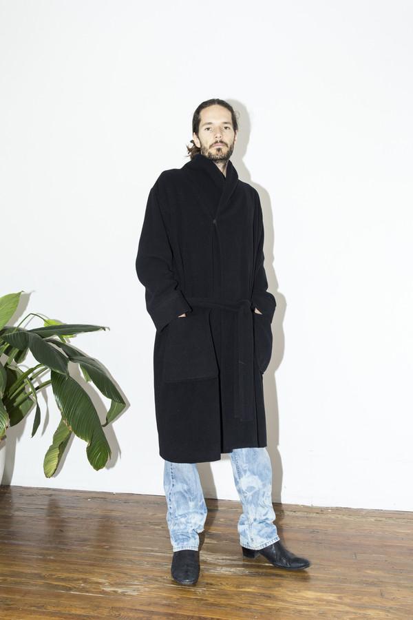 Men's Assembly New York Black Robe Coat
