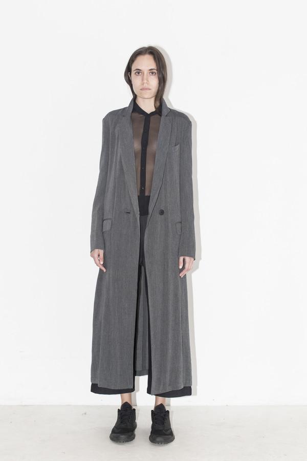 Assembly New York Grey Gauze Long Coat