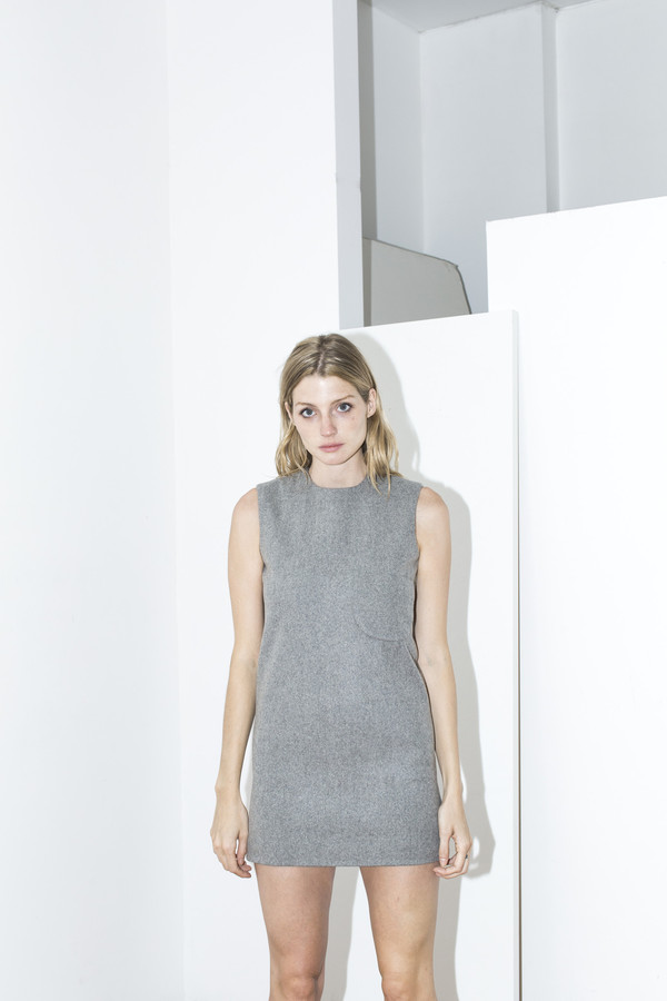 Assembly New York Grey Shift Dress
