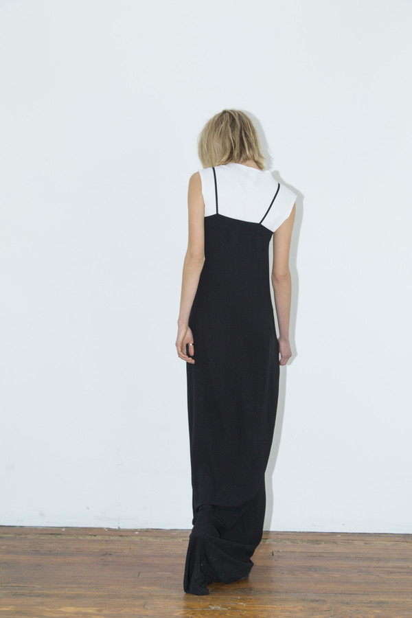 Assembly New York Black Rayon Maxi Cami Dress