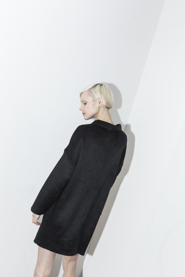 C.F. Goldman Black Sweater Dress