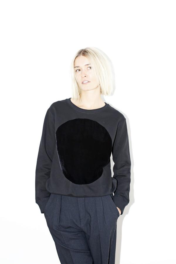 Unisex Correll Correll Velvet Circle Sweatshirt |Black