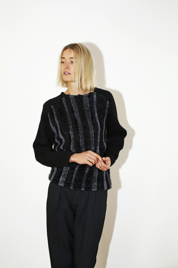 Sayaka Davis Fuzzy Stripe Sweater