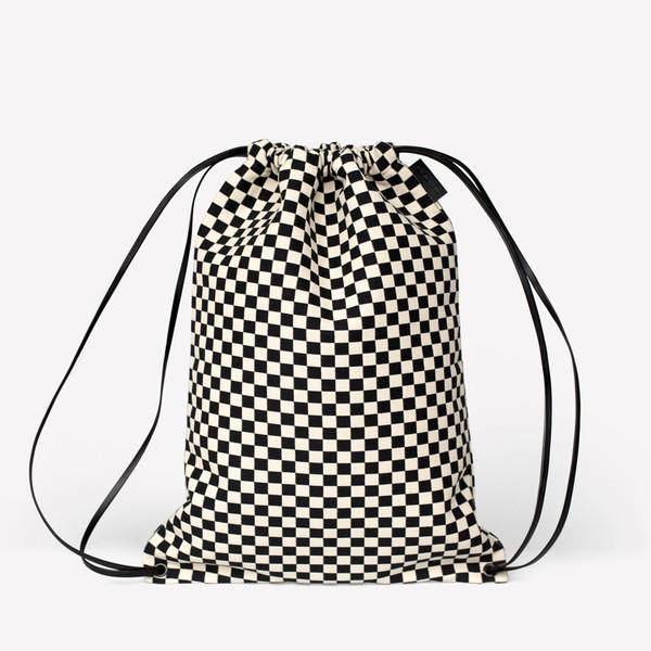 Maharam Checker Minimal Cinch Bag