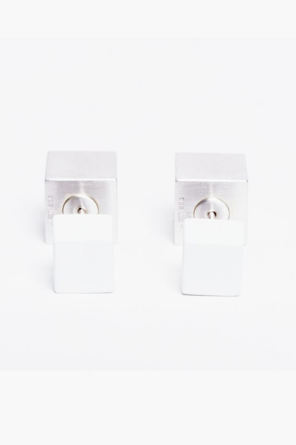 Ming Yu Wang White Eclipse Earrings