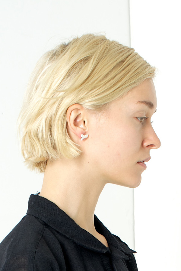 Nektar de Stagni Pearl Shark Tooth Earrings