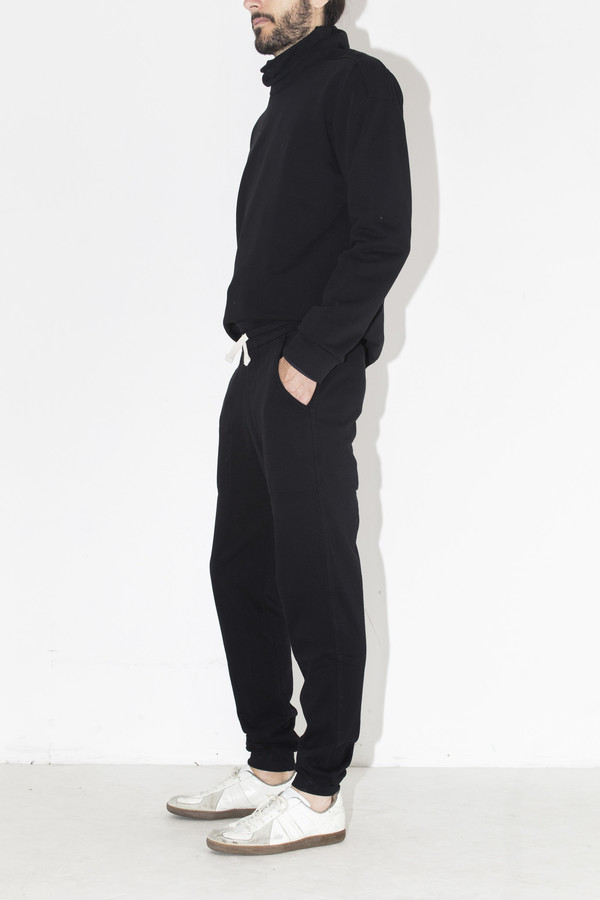 Men's Quality Peoples Black Skip Sweatpant