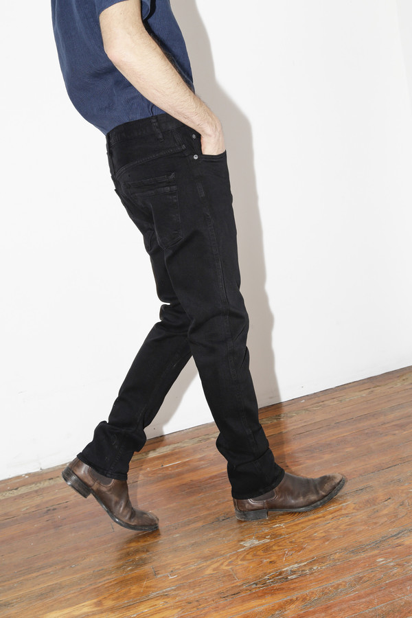 Men's Robert Geller Black Straight RG3 Jean