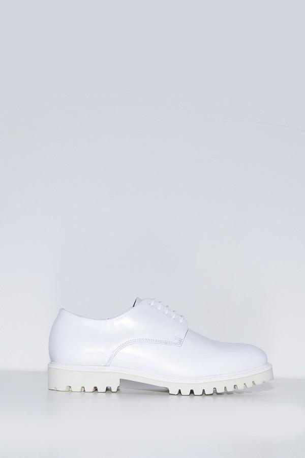 Unisex Royal Republiq White Hiker Derby Shoe