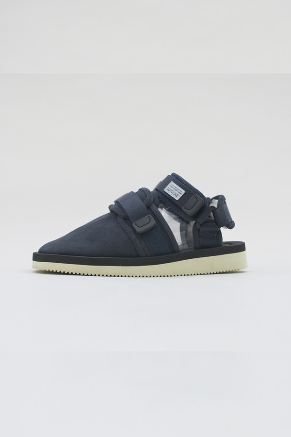 Men's Suicoke Navy Shearling Sandal