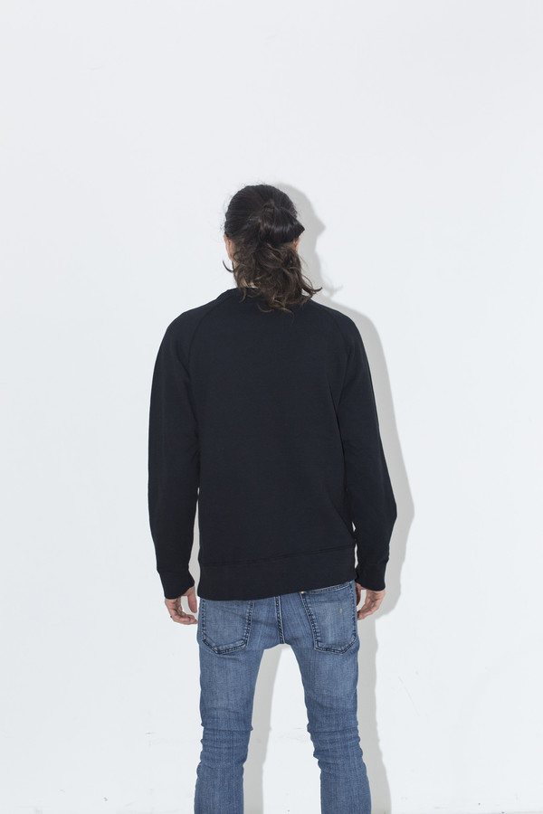 Men's Velva Sheen Black Crew Sweat